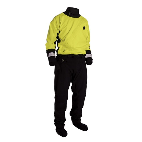 Mustang Water Rescue Dry Suit - MED - Yellow-Black