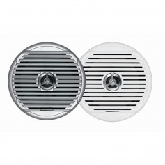 JENSEN MSX65R 6-5- High Performance Coaxial Speaker - -Pair- White-Silver Grills