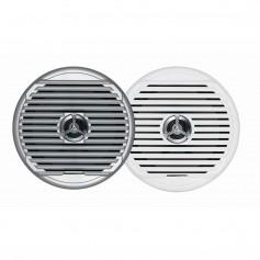 JENSEN MSX65R 6-5- High Performance Coaxial Speaker - -Pair- White-Silver Grills