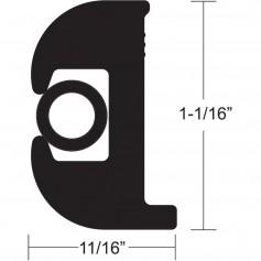 TACO Flex Vinyl Rub Rail Kit - Black w-Black Insert - 70- - 1-1-16- x 11-16-