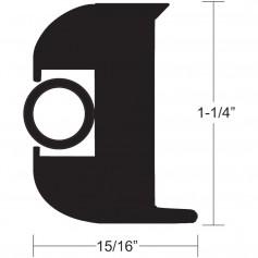 TACO Flex Vinyl Rub Rail Kit - Black w-Black Insert - 70- - 1-1-4- x 15-16-