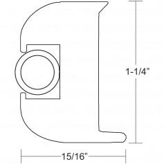 TACO Flex Vinyl Rub Rail Kit - White w-White Insert - 50-