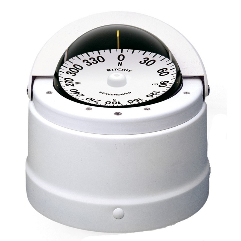 Ritchie DNW-200 Navigator Compass - Binnacle Mount - White