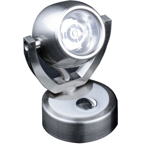 Lunasea Wall Mount LED Light w-Touch Dimming - Warm White-Brushed Nickel Finish - Rotating Light
