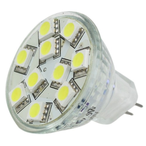 Lunasea MR11 LED Bulb - 10-30VDC-2-2W-140 Lumens - Warm White