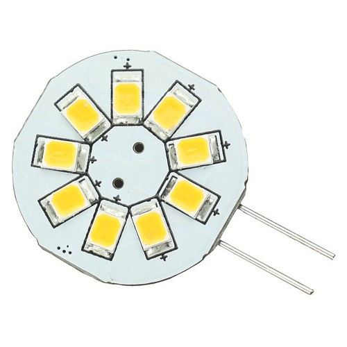 Lunasea G4 8 LED Side Pin Light Bulb - 12VAC or 10-30VDC-1-2W-123 Lumens - Warm White