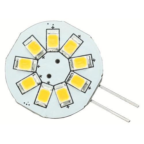 Lunasea G4 8 LED Side Pin Light Bulb - 12VAC or 10-30VDC-1-2W-123 Lumens - Warm White