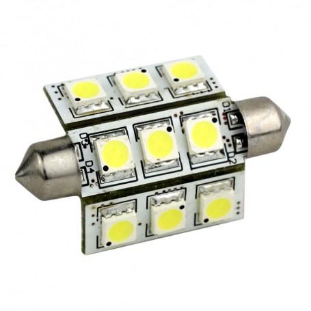 Lunasea 3-Sided 9 LED Festoon - 10-30VDC-2W-141 Lumens - Warm White