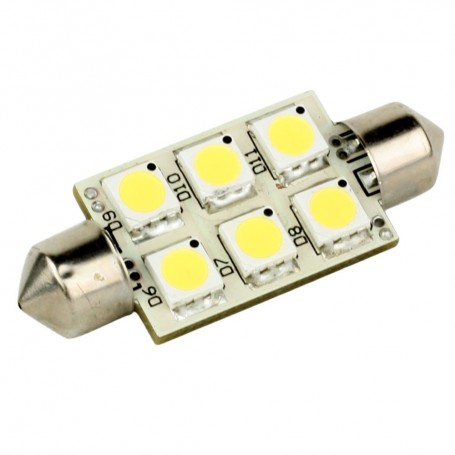 Lunasea Single-Sided 6 LED Festoon - 10-30VDC-1-5W-97 Lumens - Warm White
