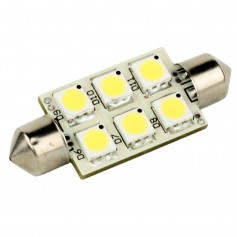 Lunasea Single-Sided 6 LED Festoon - 10-30VDC-1-5W-97 Lumens - Warm White