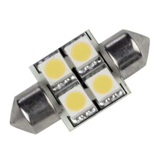 Lunasea Single-Sided 4 LED Festoon - 10-30VDC-0-7W-60 Lumens - Warm White