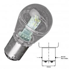 Lunasea Bayonet LED Bulb BA15D - 10-30VDC-1W-105 Lumens - Cool White
