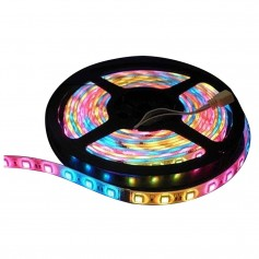Lunasea Flexible Strip LED - 5M w-Connector - Red-Green-Blue - 12V
