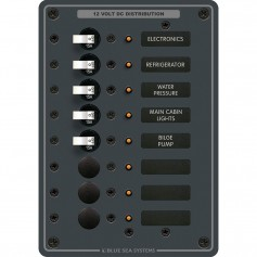 Blue Sea 8023 DC 8 Position Circuit Breaker -White Switches-