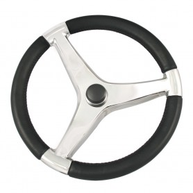 Ongaro Evo Pro 316 Cast Stainless Steel Steering Wheel - 13-5-Diameter