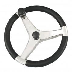 Schmitt Ongaro Evo Pro 316 Cast Stainless Steel Steering Wheel w-Control Knob - 15-5- Diameter