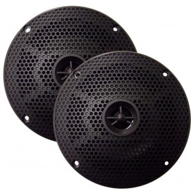 SeaWorthy 5- Round 2-Way Speakers - 75W - Black