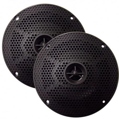 SeaWorthy 5- Round 2-Way Speakers - 75W - Black