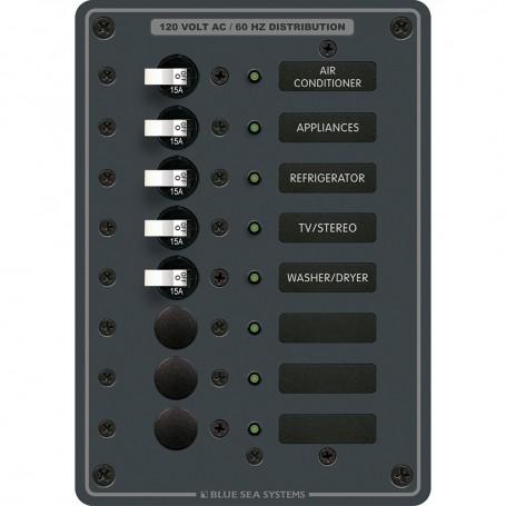 Blue Sea 8059 AC 8 Position Toggle Circuit Breaker Panel