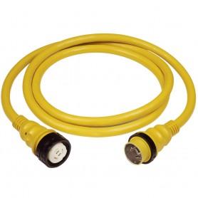 Marinco 50Amp 125-250V Shore Power Cable - 25- - Yellow