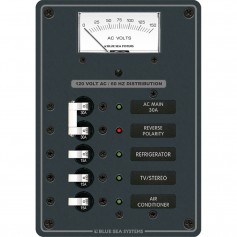 Blue Sea 8043 AC Main -3 Positions Toggle Circuit Breaker Panel -White Switches-