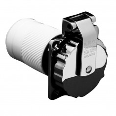 Marinco 6371EL-B 50Amp-125V Stainless Steel Inlet