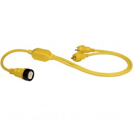 Marinco RY504-2-30 50A Female to 2-30A Male Reverse -Y- Cable