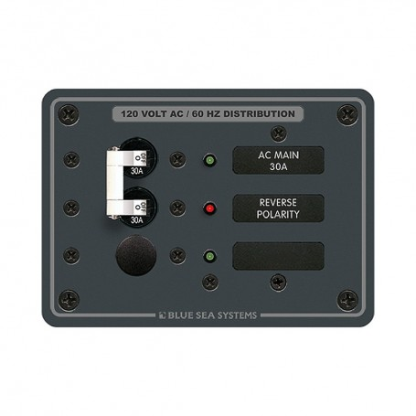 Blue Sea 8029 AC Main -1 Position Breaker Panel - White Switches