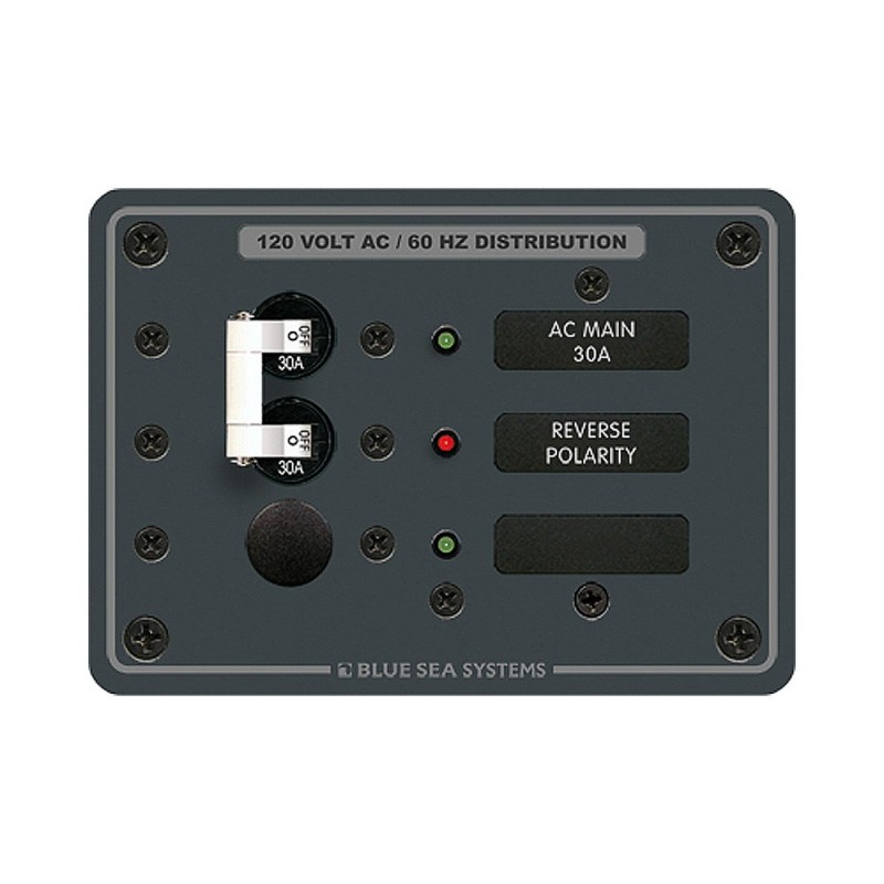 Blue Sea 8029 AC Main -1 Position Breaker Panel -White Switches-