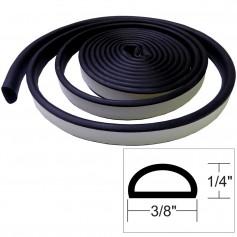 TACO Weather Seal - 10-L x 1-4-H x 3-8-W - Black