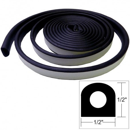 TACO Weather Seal - 10-L x 1-2-W x 1-2-H - Black