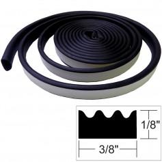 TACO Weather Seal - 10-L x -H x 3-8-W - Black