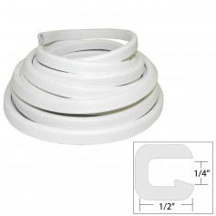 TACO Flexible Vinyl Trim - - Opening x 1-2-W x 25-L - White