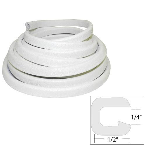 TACO Flexible Vinyl Trim - - Opening x 1-2-W x 25-L - White