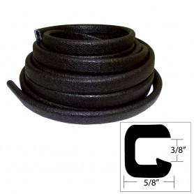 TACO Flexible Vinyl Trim - 3-8- Opening x -W x 25-L - Black