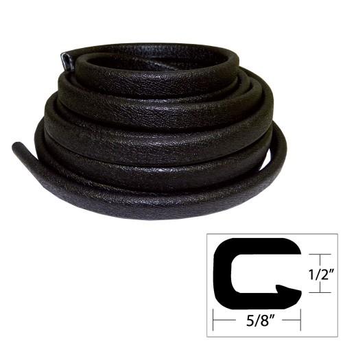 TACO Flexible Vinyl Trim - 1-2- Opening x -W x 25-L - Black