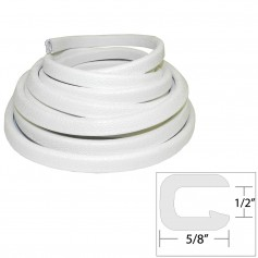TACO Flexible Vinyl Trim - 1-2- Opening x -W x 25-L - White