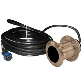 Lowrance B117 0 Degree 50-200kHz Thru-Hull Depth-Temp w-Blue Connector - 600W