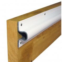 Dock Edge -C- Guard PVC Dock Profile - -4- 6- Sections - White