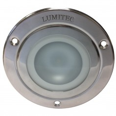 Lumitec Shadow - Flush Mount Down Light - Polished SS Finish - 3-Color Red-Blue Non Dimming w-White Dimming