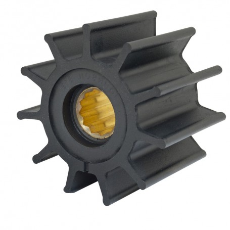 Jabsco Impeller Kit - 12 Blade - Neoprene - 3-- Diameter - Brass Insert - Spline Drive