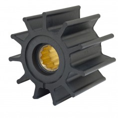 Jabsco Impeller Kit - 12 Blade - Neoprene - 3-- Diameter - Brass Insert - Spline Drive