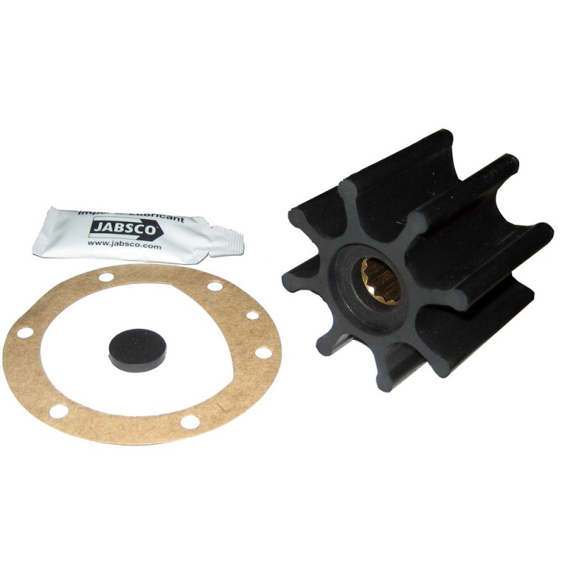 Jabsco Impeller Kit - 8 Blade - Neoprene - 2-9-16- Diameter x 2- W- 5-8- Shaft Diameter
