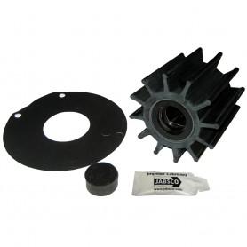 Jabsco Impeller Kit - 12 Blade - Neoprene - 3-- Diameter - Plastic Insert - Double Flat Drive