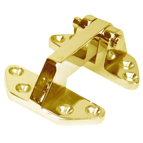 Whitecap Standard Hatch Hinge - Polished Brass - 2-5-8- x 3-1-8-