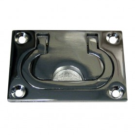 Whitecap Flush Pull Ring - CP-Brass - 3- x 2-