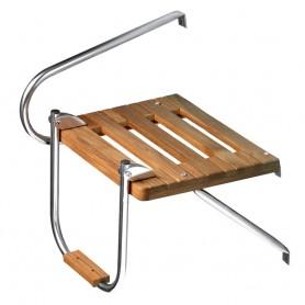 Whitecap Teak Swim Platform w-Ladder f-Outboard Motors