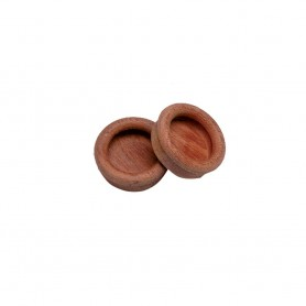 Whitecap Teak Round Drawer Pull - 1-3-8- Round - 2 Pack