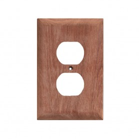 Whitecap Teak Outlet Cover-Receptacle Plate - 2 Pack