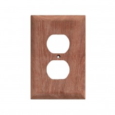 Whitecap Teak Outlet Cover-Receptacle Plate
